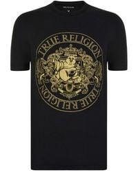 True Religion - Embroidered Buddha Crest Crew - Lyst
