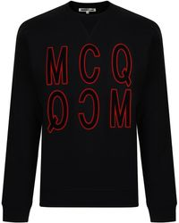 McQ - Velvet Logo Sweatshirt - Lyst