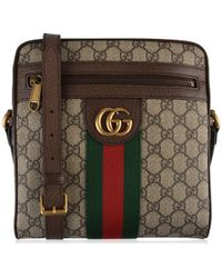 98fa7411aa2 Gucci Ophidia Large Suede Tote Bag in Brown for Men - Lyst