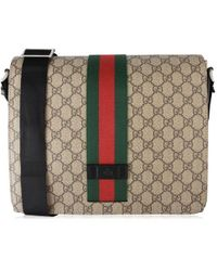 75078c236556 Gucci Angry Cat-print Gg Supreme Messenger Bag in Brown for Men - Lyst