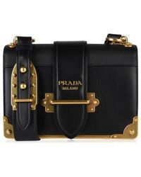 43549016e764 Prada City Leather Celestial Cahier Shoulder Bag in Black - Lyst