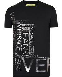 Versace Jeans - Foil Print Crew T Shirt - Lyst