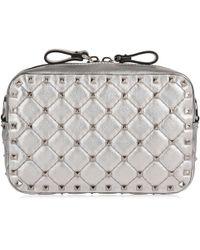 Valentino - Metallic Rockstud Camera Bag - Lyst