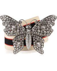 Gucci - Butterfly Stripe Belt - Lyst