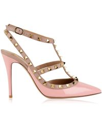 Valentino - Rockstud 100 Ankle Strap Heels - Lyst