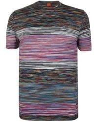 Missoni - Stripe Short Sleeved T Shirt - Lyst