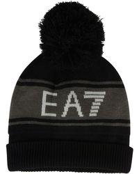 EA7 - Pompom Beanie Hat - Lyst