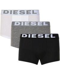 DIESEL - 3 Pack Logo Boxers - Lyst