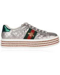 Gucci - New Ace Platform Trainers - Lyst