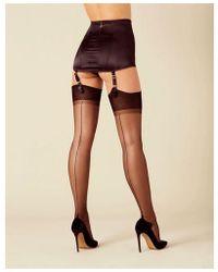 Agent Provocateur Opale Stockings - Black