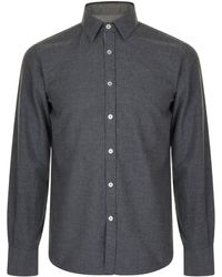 Canali - Textured Long Sleeved Shirt - Lyst