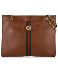 1b8d07d790f Gucci Gg Running Large Tote With Double G Detail in Brown - Lyst