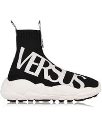 Versus - Logo Sock Run Trainers - Lyst