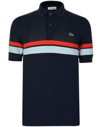 Lacoste - Waffle Knitted Polo Shirt - Lyst
