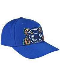 KENZO - Blue Tiger Logo Cap - Lyst