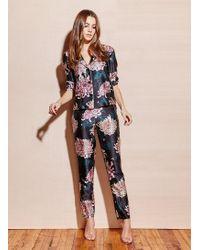 Fleur du Mal - Printed Long Sleeve Pajama Top - Lyst