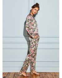 Fleur du Mal - Printed Long Sleeve Pyjama Top - Lyst