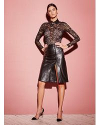 Fleur du Mal - Leather A-line Skirt - Lyst