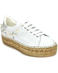275 Central - Leather Pearled Espadrille - Lyst
