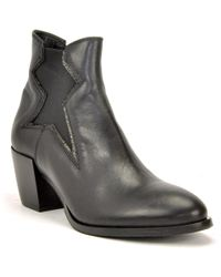 275 Central - Block Heel Leather Bootie - Lyst