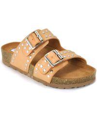 Steve Madden - Leather Studded Sandal - Lyst