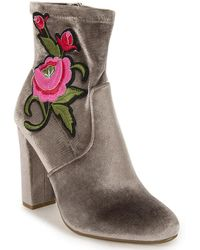Steve Madden - Embroidered Bootie - Lyst