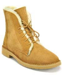 UGG - Shearling Suede Short Boot - Lyst
