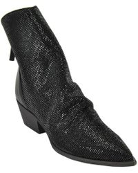 Strategia - Metallic Embellished Ankle Boots - Lyst