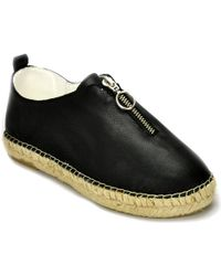 275 Central - Leather Zipper Espadrille - Lyst