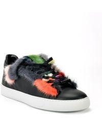Black Dioniso - Multi Fur Low Top Sneaker - Lyst