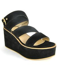 275 Central - Suede Wedge Sandal - Lyst