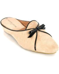 Jacques Levine - Suede Wedge Mule - Lyst