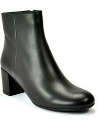 Footnotes - Zander Leather Bootie - Lyst