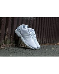new arrival 7a736 598ec adidas Originals - Adidas Zx Flux Ftw White  Ftw White  Cool Grey - Lyst