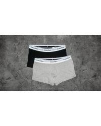 Footshop - Calvin Klein Trunks 2 Pack Black/ Grey - Lyst