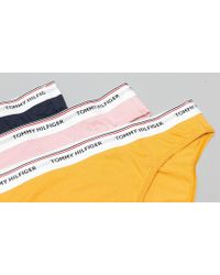 Tommy Hilfiger - 3 Pack Bikini Zephyr/ Navy Blazer/ Mineral Yellow - Lyst