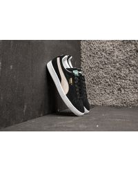 Lyst - PUMA Basket Classic Black White Leather in Black for Men c54ad2455