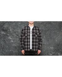 Huf - Gatsby Flannel Shirt Black - Lyst
