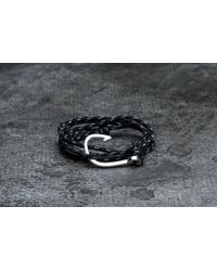 Footshop - Miansai Hook On Rope Bracelet Silver/ Asphalt - Lyst