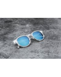 Stussy - Romeo Sunglasses Translucent Clear/ Blue Mirror - Lyst