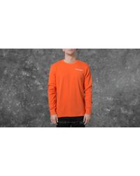 Footshop - Undefeated Thermal Crew Neck Orange - Lyst