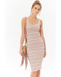 Forever 21 - Ribbed Bodycon Midi Dress - Lyst