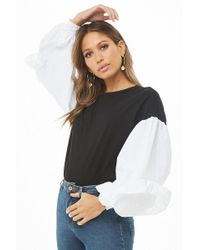 Forever 21 - Balloon Sleeve Combo Top - Lyst