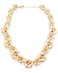 Forever 21 - Statement Floral Necklace - Lyst