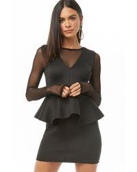 fcee6a05875 Forever 21 Sheer Mesh Midi Dress in Black - Lyst