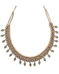 Forever 21 - Women's Etched Burnished Necklace - Lyst