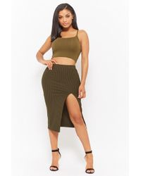 Forever 21 - Ribbed-knit Pencil Skirt - Lyst