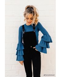 Forever 21 - Concealed Snap-button Denim Dungarees - Lyst