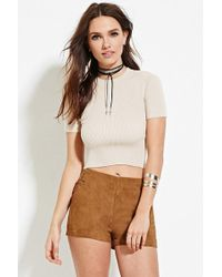 Forever 21 - Ribbed Mock Neck Top - Lyst