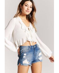 Forever 21 - Distressed Denim Shorts - Lyst